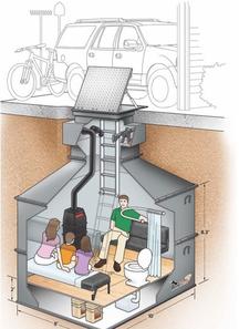 Убежище под гаражом. США